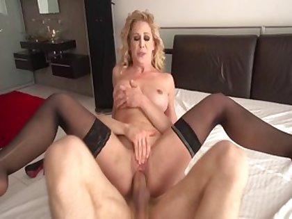 Fabulous pornstar Cherie DeVille in horny facial, big ass adult clip