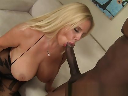 MILF Gets Struggles with BBC and gets Pussy Pounded