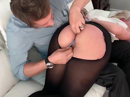 Punishment of MILF Lisey Sweet - ropes, tide up, ,rough spanking,FOOTJOB