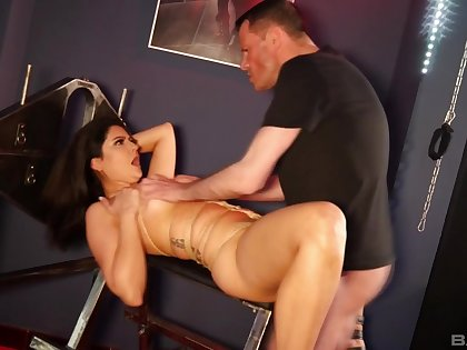 Unprofessional secured up slut loves to be used as a sex slave increased by eats cum