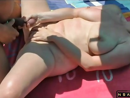 Fucked by stranger at the beach featured in homemade real amateur sexvideo