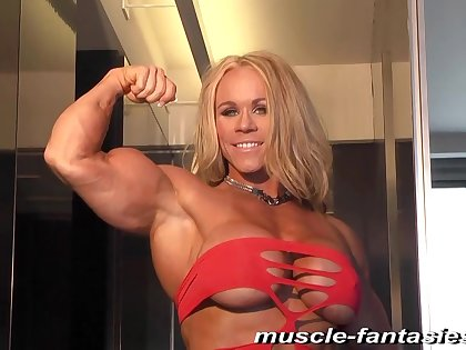 Blond Thorn Lady Fitness MILF - muscle lady solo