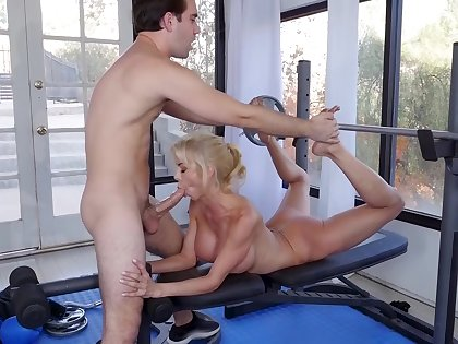 Morning calculate be incumbent upstairs the cougar upstairs the trainer's young cock