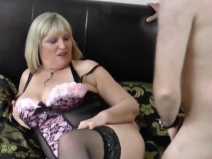 So horny Alisha Rydes loves sucking to big mature cocks