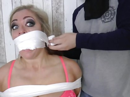 Kelie O'brien Taped Up - grown-up bondage