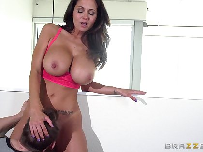 Big tits pornstar Ava Addams loves nearby be fucked by two guys