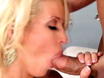 Blonde milf housewife with her stunning beau
