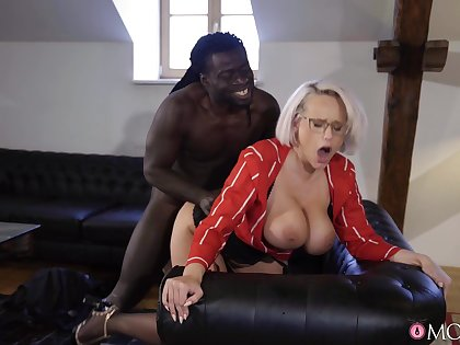 Mature with huge knockers, insane black porn thither doggy scenes