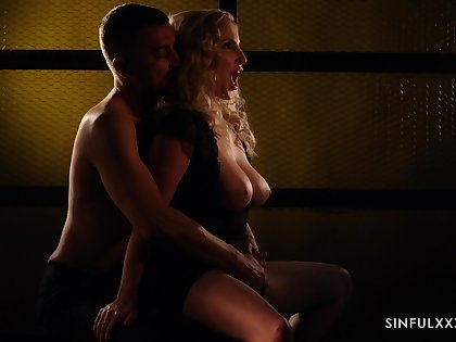 Forth win sensual doggy fuck this attractive blonde lady Georgie Lyall gives head