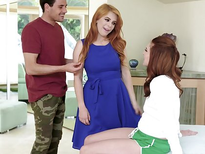 Young nextdoor chick is spying at bottom married couple