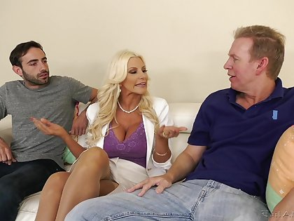 Mature loves it when the dicks hammer her in such merciless scenes
