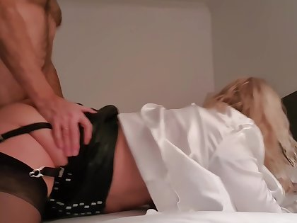 Jess In Leather Skirt Spanked And Nipple Teasing