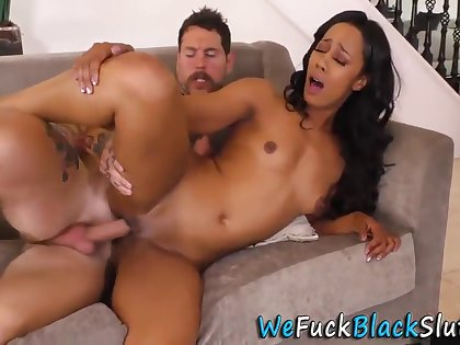 Dean Van Damme And Misty Stone In Eaten Out Ebony Milf Rides White Blarney
