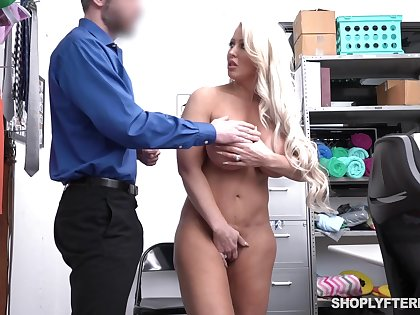 Big Boobs Shoplifter Takes Weasel words In Her Slippery Pussy
