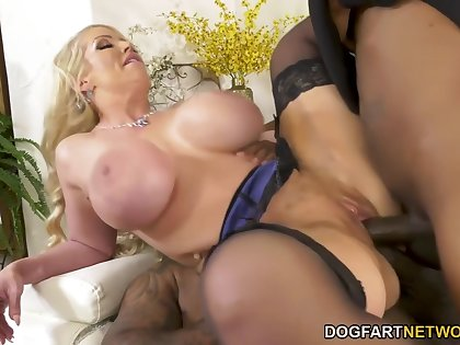 Rico Strong, Alura Jenson And Slim Poke - Aluras Immense Tits Get Stepson Out Of Trouble!