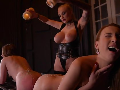 Kayla Green & Liona Levi & Lulu Love in Smoking Hot: Lesbian Babyhood Botheration Fucked By Super Dominatrix - KINK