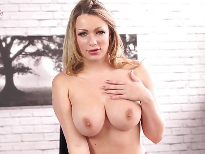 MILF in red lingerie solo striptease - Big inept bowels in assignment