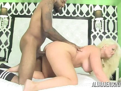 Busty Blonde MILF Alura Jenson is Late and Horny