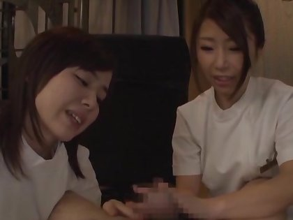 Hot ass babes outsider Japan give teeny-bopper and take turns riding his dick