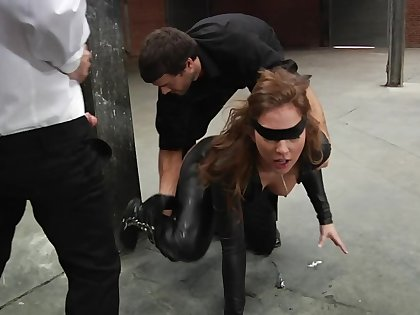 Lewd anal slut visits a airless office to be assfucked properly