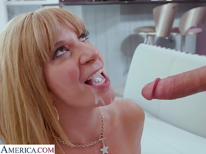 Miasmic wife Sara Jay enjoys having sex connected with a younger lover