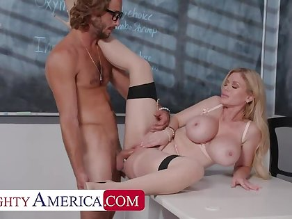 Naughty America: Casca Akashova helps take punctiliousness of her student's boner by taking his cock on PornHD