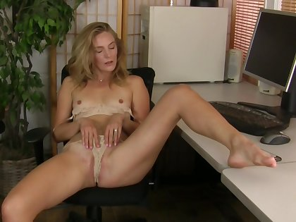 Lecherous perfection for a solitary MILF at the office