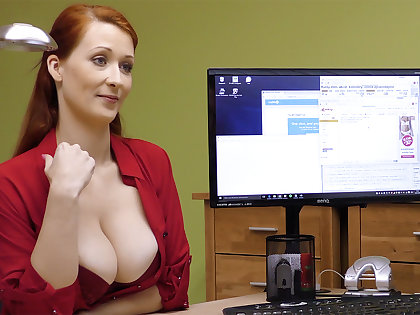 Big-Boobed red-haired mature have rigid intercourse be beneficial to money